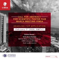 image CALL FOR ABSTRACT FOR SCIENTIFIC POSTER FAIR MARCH MEETING 2020 IFMSA