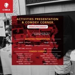 ACTIVITIES PRESENTATION AND COMDEV CORNER OCTOBER MEETING 2019