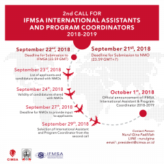 image 2nd Call for IFMSA International Assistants and Program Coordinators 2018-2019
