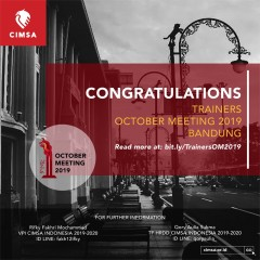 ANNOUNCEMENT: TRAINERS OCTOBER MEETING 2019 BANDUNG