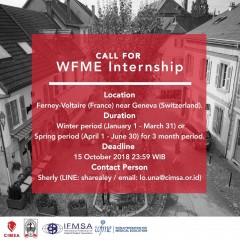 [CALL FOR WFME INTERNSHIP]