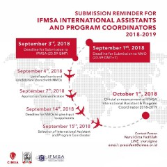 1st Call for IFMSA International Assistants and Program Coordinators 2018-2019