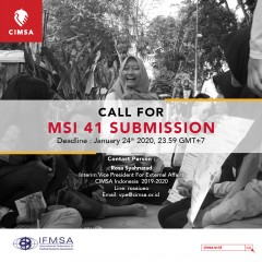 CALL FOR MSI41 SUBMISSION
