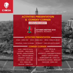 ACTIVITIES PRESENTATION & COMDEV CORNER - OCTOBER MEETING 2018