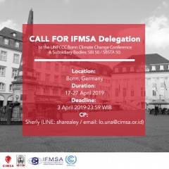 Call for IFMSA delegation to the UNFCCC Bonn Climate Change Conference & Subsidiary Bodies