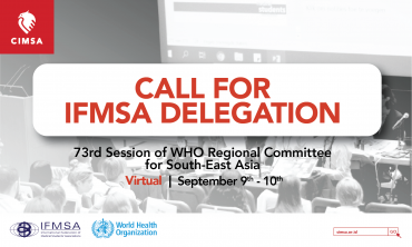 CALL FOR IFMSA DELEGATION: 73RD SESSION OF WHO REGIONAL COMMITTEE FOR SOUTH-EAST ASIA