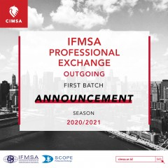 SCOPE CIMSA OUTGOING ANNOUNCEMENT 2020/2021: 1ST BATCH