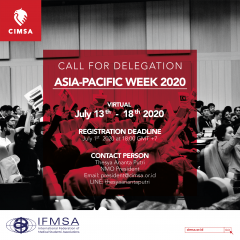 CALL FOR DELEGATION: ASIA-PACIFIC WEEK 2020