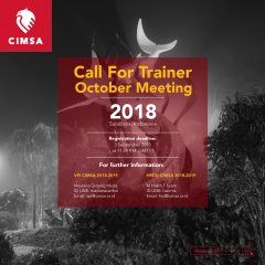 [CALL FOR TRAINER - OCTOBER MEETING CIMSA 2018]