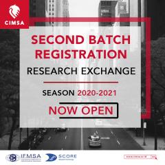 RESEARCH EXCHANGE SCORE CIMSA OPPORTUNITIES: 2ND BATCH REGISTRATION