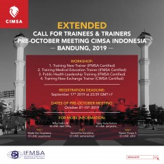 EXTENDED CALL FOR TRAINEES & TRAINERS OF PRE-OM WORKSHOP CIMSA 2019