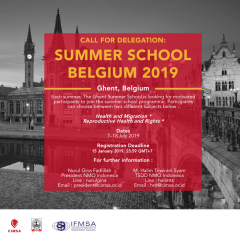 CALL FOR DELEGATION : BELGIUM SUMMER CLASS 2019