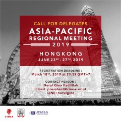 image CALL FOR DELEGATES - IFMSA ASIA-PACIFIC REGIONAL MEETING 2019 HONGKONG