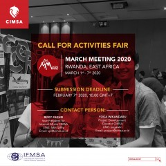 image ACTIVITIES FAIR MARCH MEETING 2020
