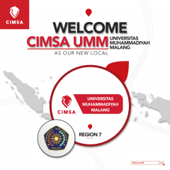 image WELCOME OUR NEW LOCAL: CIMSA UNIVERSITAS MUHAMMADIYAH MALANG!