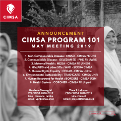 image ANNOUNCEMENT : CIMSA PROGRAM 101