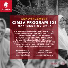 ANNOUNCEMENT : CIMSA PROGRAM 101