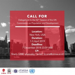 image CALL FOR IFMSA DELEGATIONS TO THE 52ND SESSION OF THE UN COMMISSION ON POPULATION AND DEVELOPMENT