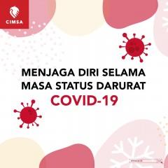MENJAGA DIRI SELAMA MASA STATUS DARURAT COVID-19