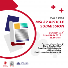 CALL FOR MSI 39 ARTICLE SUBMISSION