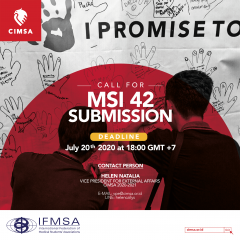 CALL FOR MSI 42 SUBMISSION