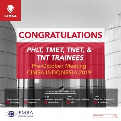 ANNOUNCEMENT: TRAINEES OF PRE-OCTOBER MEETING CIMSA INDONESIA 2019