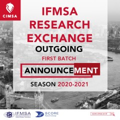 IFMSA RESEARCH EXCHANGE 1ST BATCH ANNOUNCEMENT