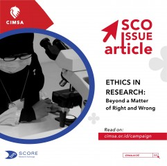 SCO Issue Article - Ethics in Research: Beyond a Matter of Right and Wrong