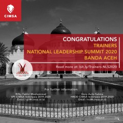 ANNOUNCEMENT: TRAINERS NATIONAL LEADERSHIP SUMMIT 2020 BANDA ACEH