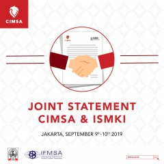 JOINT STATEMENT CIMSA & ISMKI: SEPTEMBER 9TH-10TH 2019, JAKARTA