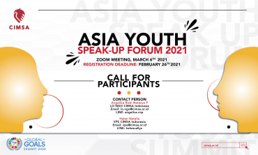 image CALL FOR DELEGATION: ASIA YOUTH SPEAK-UP FORUM 2021
