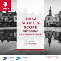 IFMSA SCOPE & SCORE OUTGOING ANNOUNCEMENT
