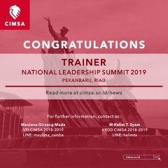 image Announcement of Trainer National Leadership Summit CIMSA 2019, Pekanbaru