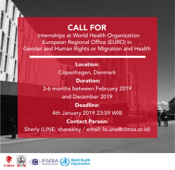 image Call For Internships at World Health Organization European Regional Office