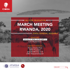 CALL FOR DELEGATION MARCH MEETING RWANDA 2020: LATE REGISTRATION