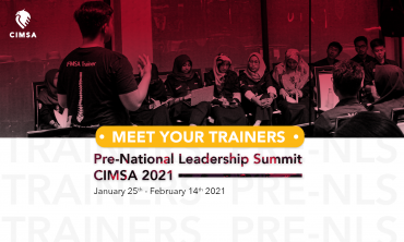 Meet Your Trainers for Pre-National Leadership Summit CIMSA 2021