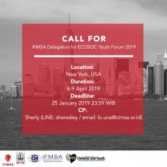 Call for IFMSA Delegation for ECOSOC Youth Forum 2019