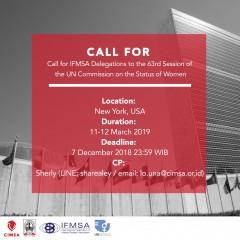 Call for IFMSA Delegations to the 63rd Session of the UN Commission on the Status of Women