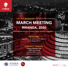 CALL FOR DELEGATION MARCH MEETING RWANDA 2020: EARLY REGISTRATION