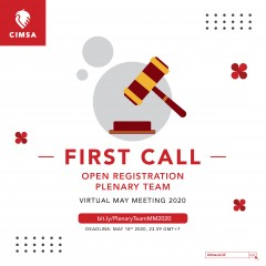 image FIRST CALL - PRESIDIUM & KKS VIRTUAL MAY MEETING 2020