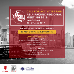 CALL FOR ACTIVITIES FAIR : APRM 2019, HONGKONG