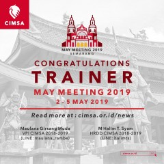 image ANNOUNCEMENT - TRAINER MAY MEETING CIMSA 2019, SEMARANG
